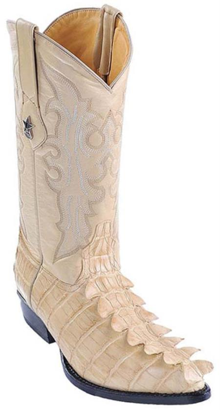 MensUSA.com Nile Croc Tail Print Beige Los Altos Men Cowboy Boots Western Classic Rider(Exchange only policy) at Sears.com