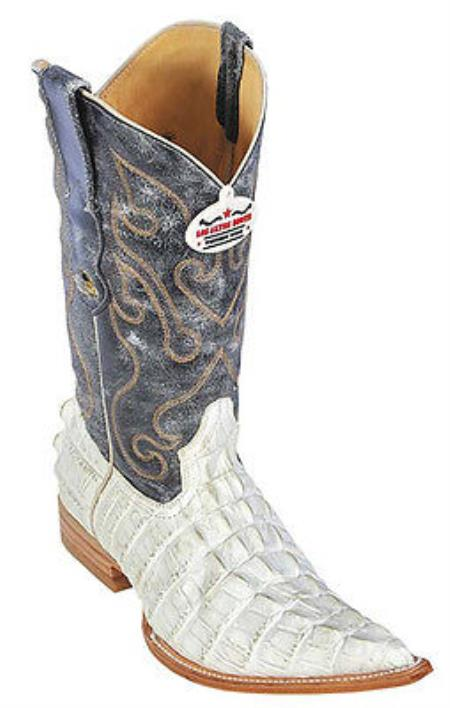 MensUSA.com Croc Tail Print Off-White Vintage Los Altos Men's Cowboy Boots Western Riding(Exchange only policy) at Sears.com