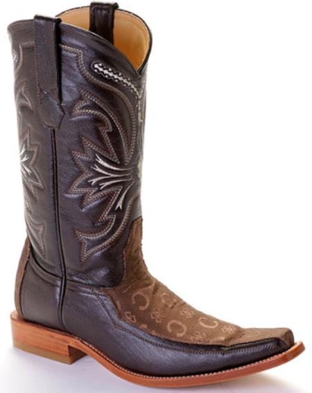 MensUSA.com Deer Brown Los Altos Mens Western Boots Cowboy Design Square Toe(Exchange only policy) at Sears.com