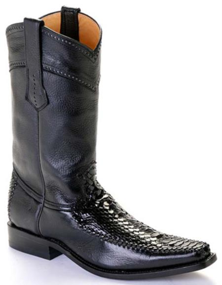 MensUSA.com Python Skin Black Los Altos Men's Cowboy Boots Western Classics Riding(Exchange only policy) at Sears.com