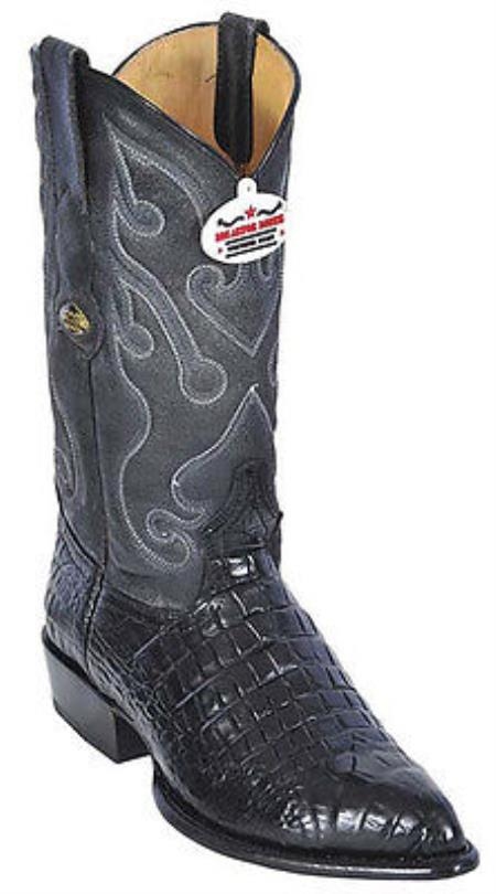 MensUSA.com Croc Belly Print Black Los Altos Men's Cowboy Boots Western Classics Riding(Exchange only policy) at Sears.com