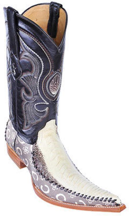 MensUSA.com Ostrich Leg Leather Winter White Los Altos Men's Fashion Cowboy Boots 6x Toe(Exchange only policy) at Sears.com