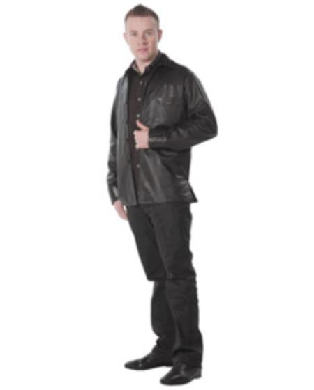 SKU#ER-1875 Wild West caiman ~ alligator Belly Brown Fashion Jackets $1017