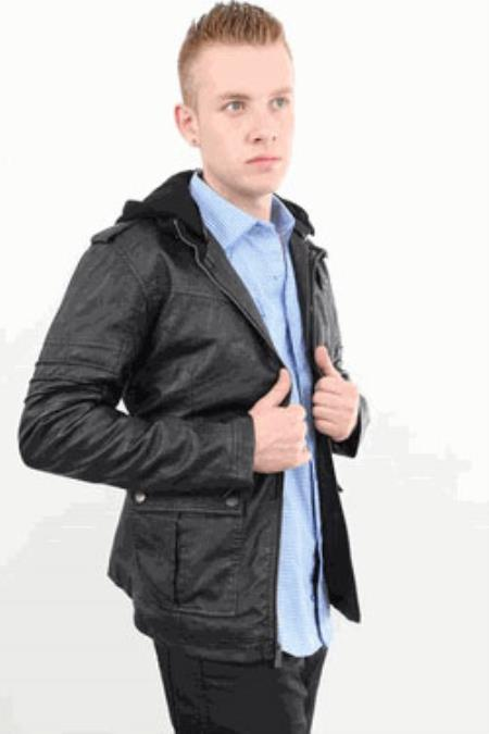 MensUSA Wild West Fashion Black Jacket with Hood at Sears.com