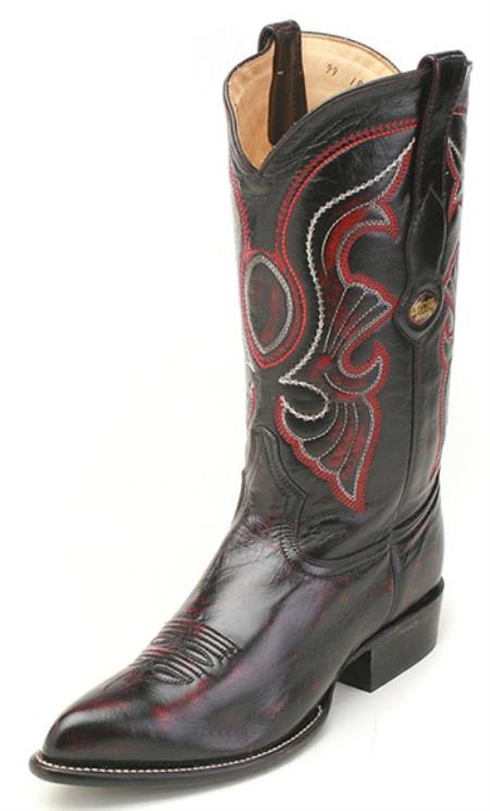 MensUSA.com Goat Leather Black Los Altos Men's Cowboy Boots Western Classics Riding(Exchange only policy) at Sears.com