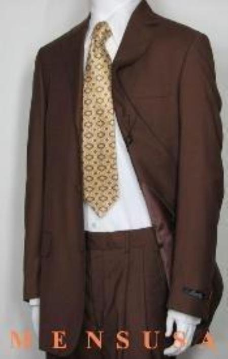 SKU# MU99 Copper~Rust~cognac(Red Brown) Color 3 Buttons Dress Fashion Color Suits $99