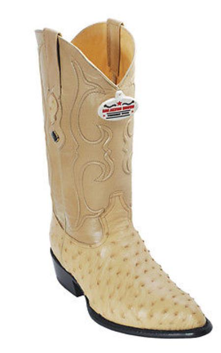 MensUSA.com Full Quill Ostrich Leather Beige Los Altos Men Cowboy Boots Western Rider Style(Exchange only policy) at Sears.com