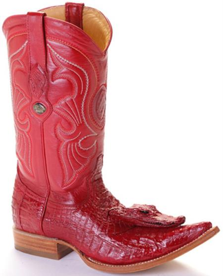 MensUSA.com Caiman Head Vintage Riding Red Los Altos Men's Western Boots Cowboy Classics(Exchange only policy) at Sears.com