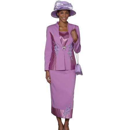 SKU#WO-106 Women 3 Piece Dress Set Violet $139