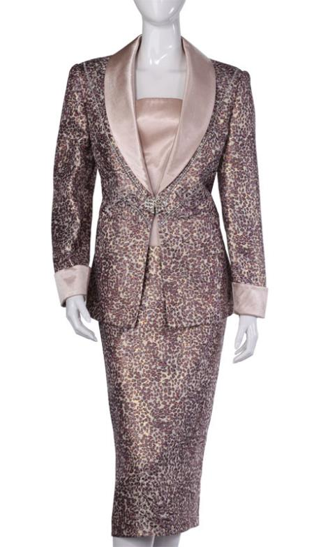 SKU#WO-109 Women Dress Set Brown $139