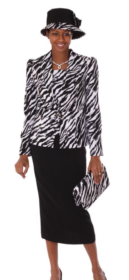 MensUSA.com Women 3 Piece Dress Set Black/White Print(Exchange only policy) at Sears.com