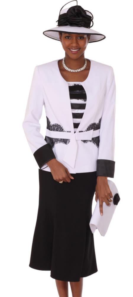 MensUSA.com Women 3 Piece Dress Set White/Black(Exchange only policy) at Sears.com