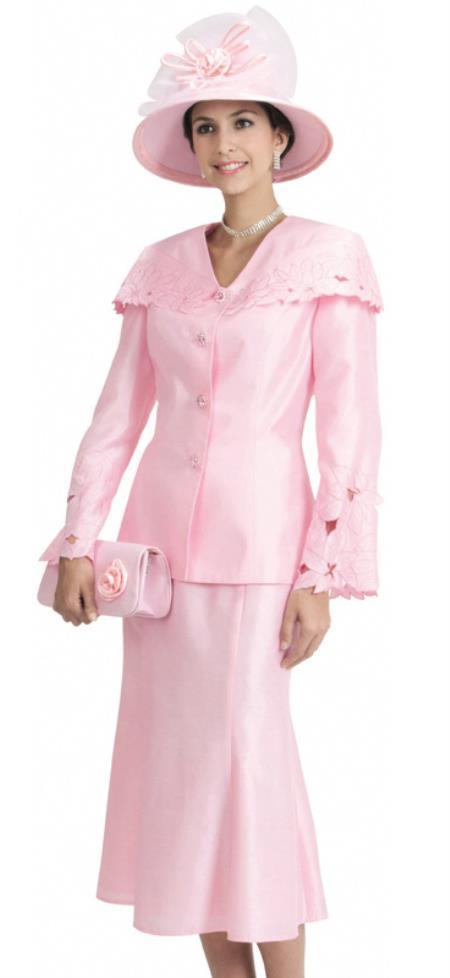 SKU#WO-148 Women Dress Set White, Pink $139