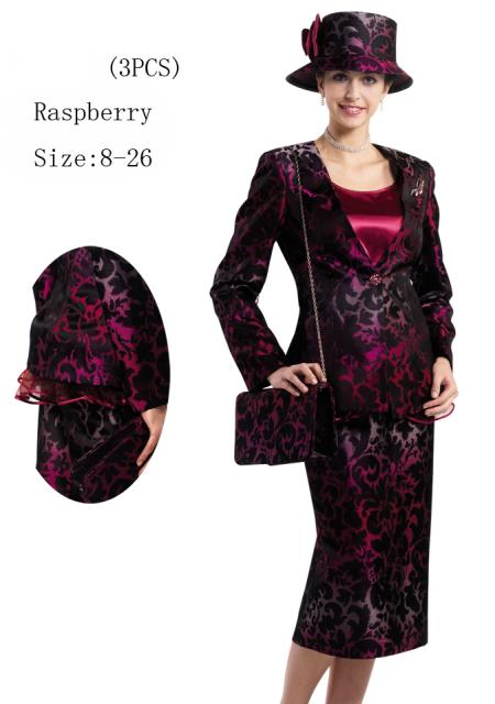 MensUSA.com Women 3 Piece Dress Set Raspberry, Purple(Exchange only policy) at Sears.com