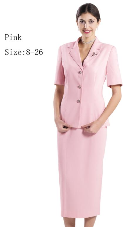 SKU#WO-161 Women Dress Set Pink,White,Red,Black