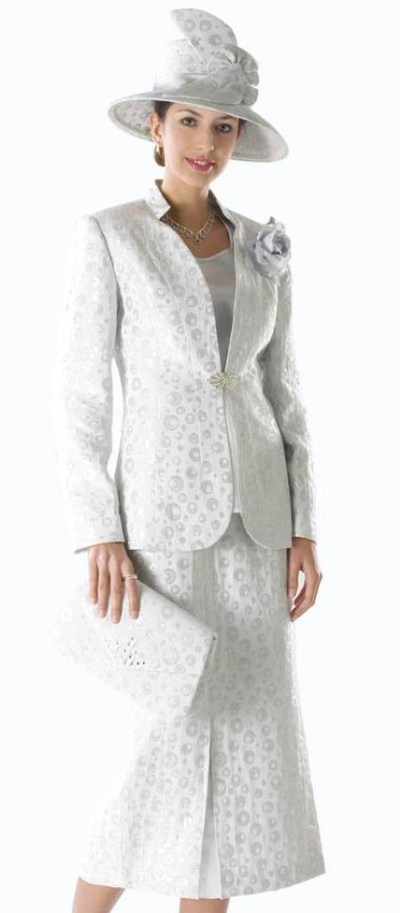 MensUSA.com Women Dress Set White/Silver(Exchange only policy) at Sears.com