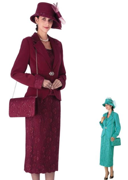 SKU#WO-203 Women Dress Set Burgundy ~ Maroon ~ Wine Color, turquoise ~ Light Blue Colored $139