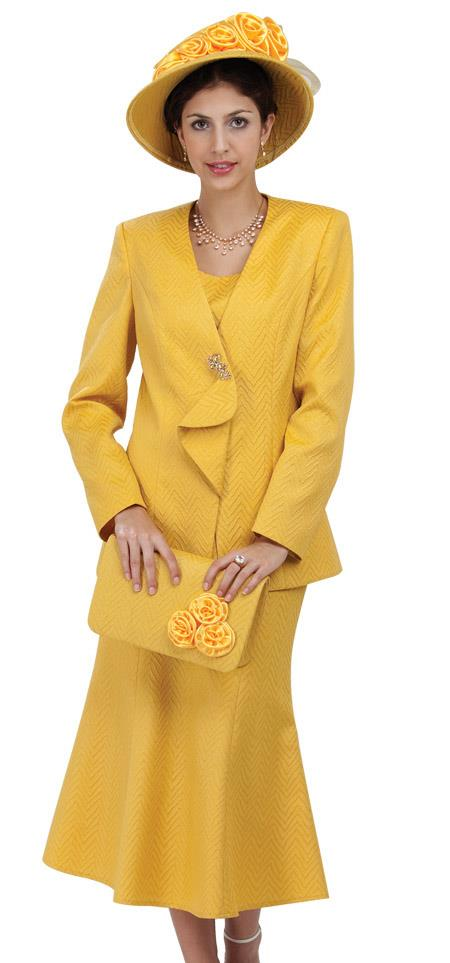 SKU#WO-207 Women 3 Piece Dress Set Yellow $139