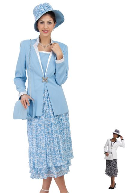MensUSA.com Women Dress Set Black/White, Blue/White(Exchange only policy) at Sears.com