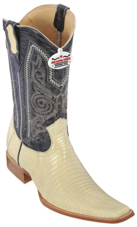 MensUSA.com Teju Lizard Winter White Los Altos Men's Cowboy Boots Western Riding Design(Exchange only policy) at Sears.com