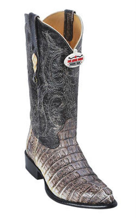 MensUSA.com Caiman Tail Leather Vintage Beige Los Altos Men Cowboy Boots Western Rider Style(Exchange only policy) at Sears.com