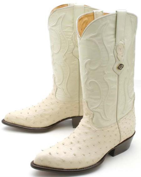 MensUSA.com Full Quill Ostrich Winter White Los Altos Men's Cowboy Boots Western Rider(Exchange only policy) at Sears.com