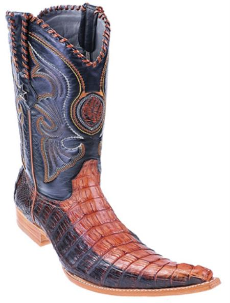 MensUSA.com Caiman Tail Cognac Brown Vintage Los Altos Men's Cowboy Boots Western Riding(Exchange only policy) at Sears.com