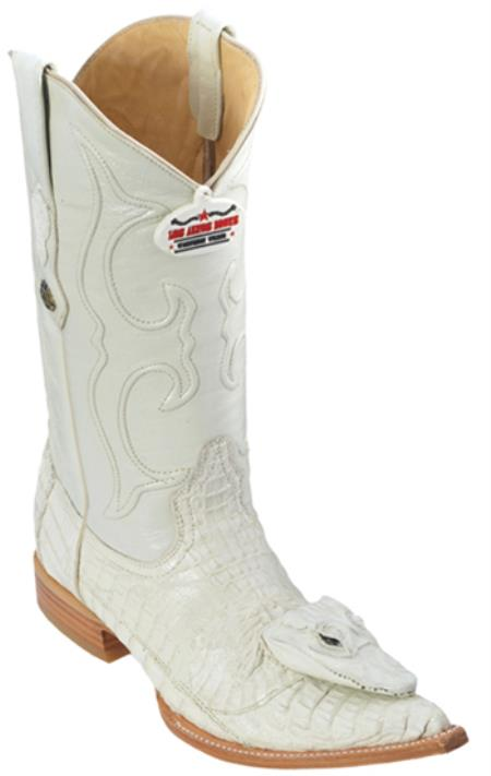 MensUSA.com Caiman Head Vintage Winter White Los Altos Men's Cowboy Boots Western Rider(Exchange only policy) at Sears.com