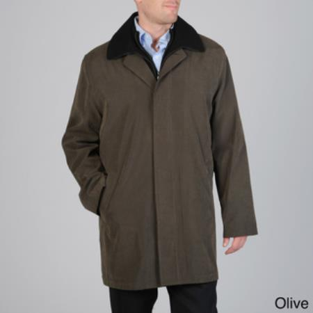 MensUSA.com Men's 'Rudy' Raincoat with Snap-out Liner Olive(Exchange only policy) at Sears.com