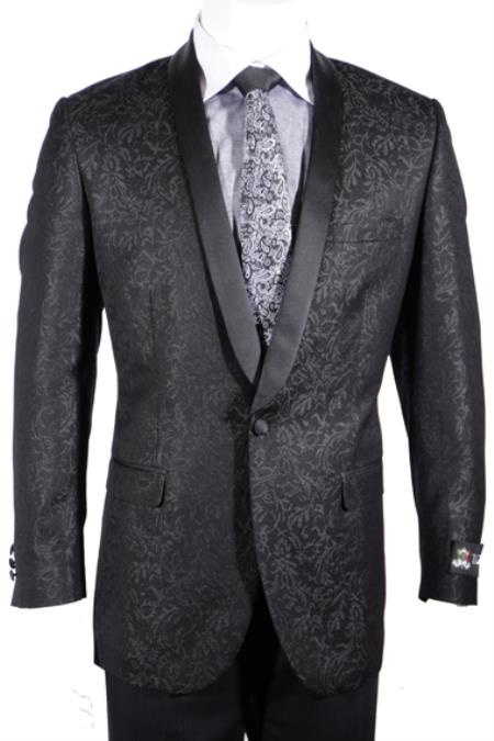 SKU#RB-382 Black Sequin Shiny Flashy Silky Paisley Blazer Shiny Stage Sport Coat Jacket / Blazer $225