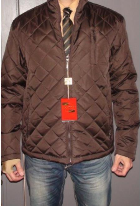 SKU#E-38F Mantoni City Jacket Brown $175