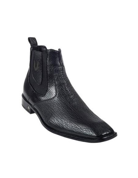 Mens Genuine Black Shark Dressy Boot Ankle Dress Style For Man