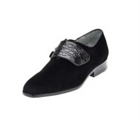 MensUSA.com Belvedere Black Velvet/Crocodile(Exchange only policy) at Sears.com