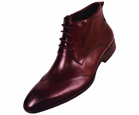 SKU#NR4816 Mens Brown Hand Made Leather Boot Brown $99