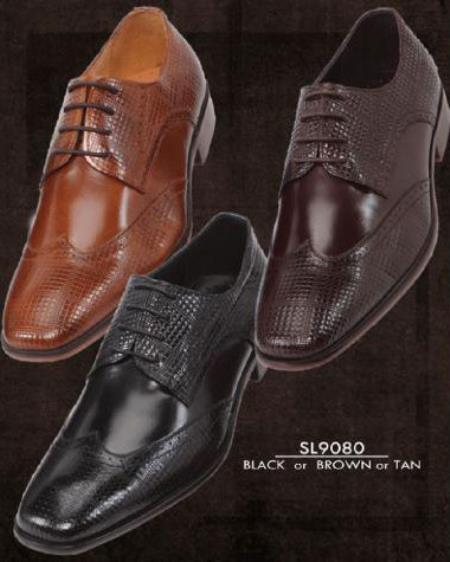 SKU#KA6698 Mens Hand Made Leather Shoes -  Black / Brown / Tan $99