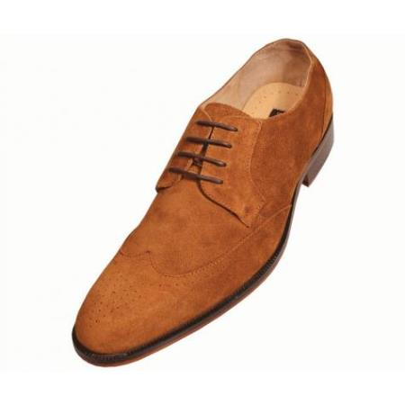 SKU#KA2876 Mens Tan Hand Made Leather Shoes $99