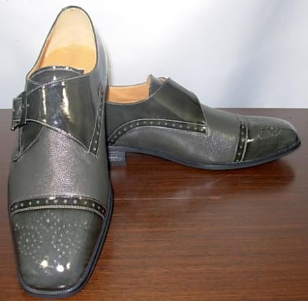 SKU#KA5561 Gray Mens Dress Leather Shoe $99