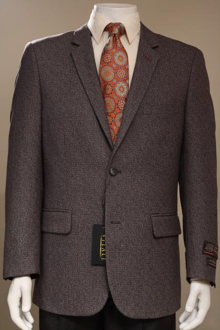 MensUSA Men's 2 Button Sport Coat/ Sport Jacket / Blazer Jacket Brown at Sears.com