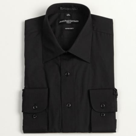 MensUSA.com Men's Black Convertible Cuff Big & Tall Dress Shirt(Exchange only policy) at Sears.com