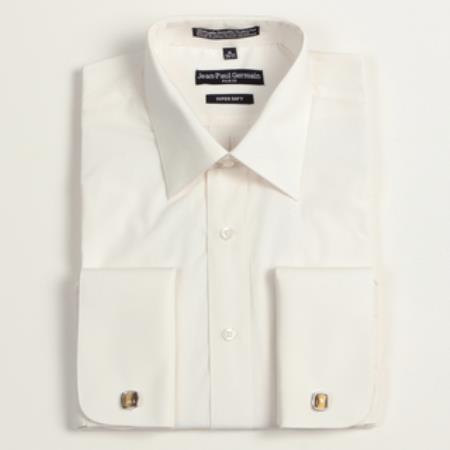 Sku re 1275 men 39 s bone french cuff big tall dress shirt for Big and tall french cuff dress shirts