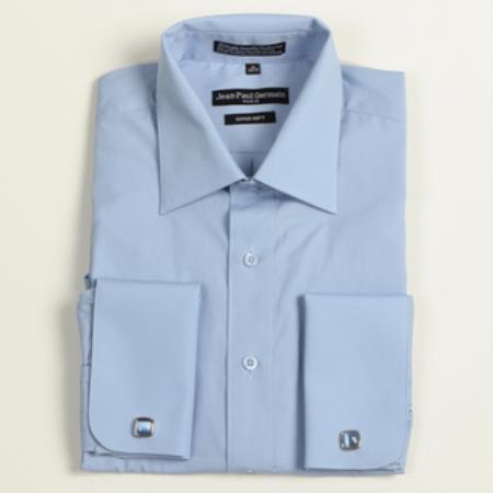 Sku cg 3125 men 39 s medium blue french cuff big tall dress for Big and tall french cuff dress shirts