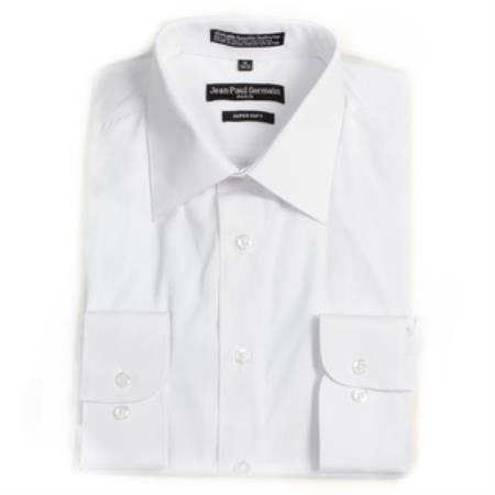 MensUSA.com Men's White Convertible Cuff Big & Tall Dress Shirt(Exchange only policy) at Sears.com