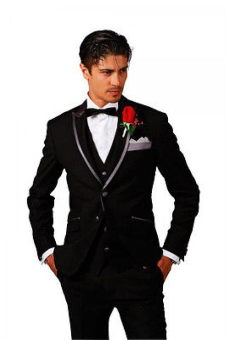 SKU#KA5530 Men New Fashion Designer Weddingr Groom Tuxedo Dinner Suit Jacket BlazerTrouser $595