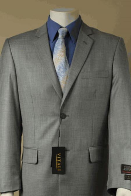MensUSA Modern Fit Designer 2-Button Suit New Edition Shiny Sharkskin Stone at Sears.com