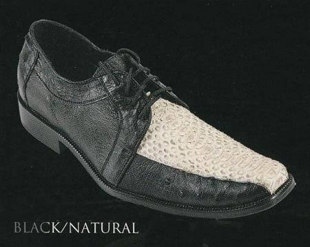 MensUSA.com White Diamonds Men's Python/Ostrich/Caiman/Stingray Oxford Lace Up Dress Shoes Black(Exchange only policy) at Sears.com
