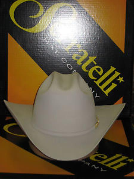 """SKU#KA6973 Serratelli Designer 100x El Comandant Platinum 4"""" Brim Western Cowboy Hat $380"""