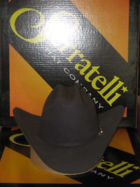 "SKU#KA6702 Serratelli Designer 6x Amapola Granite 3 1/2"" Brim Western Cowboy Hat $210"