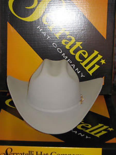 """SKU#KA5001 Serratelli Designer 6x Amapola Cloud 4"""" Brim Western Cowboy Hat $190"""