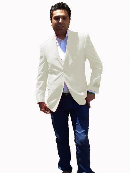White Sport Coat For Men