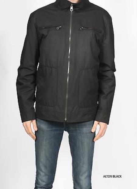 SKU#KA1064 Premium Waterproof Zip Up Military Jacket Coat ALTON-BLACK $149